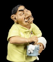 Funny Jobs Figur - Barbier mit Rasiermesser