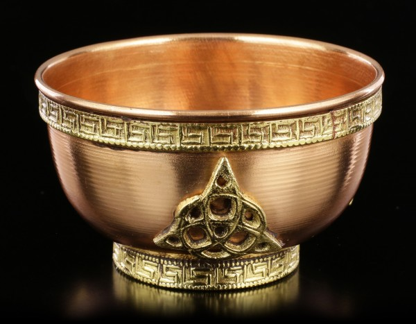 Ritual Copper Bowl with Triquetra small
