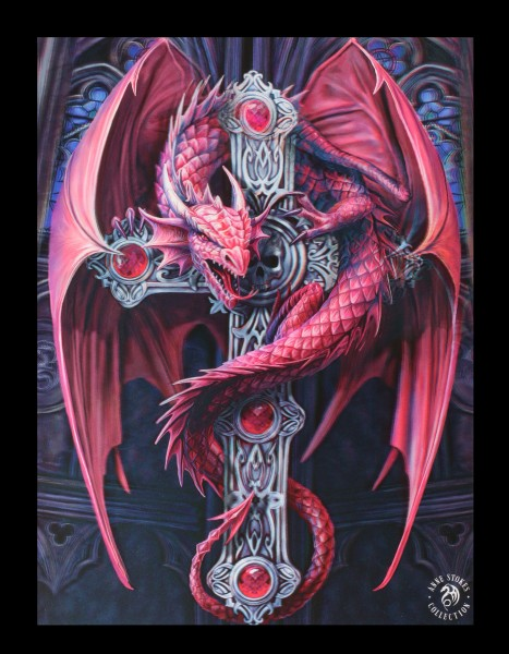 3D Picture with Dragon - Gothic Guardian