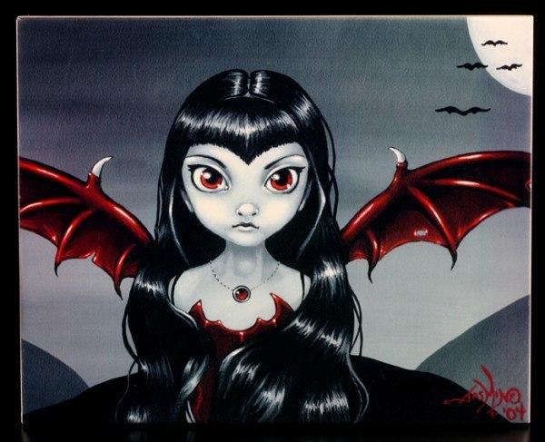 Deko-Fliese groß - Red Winged Fairy