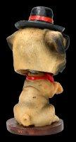 Wackelkopf Figur - Mops Bobble Pug
