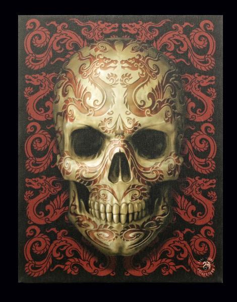 Small Canvas - Oriental Skull