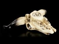 Small Wall Ornament - Bull Skull