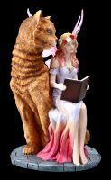 Fairy Figurine - Studa with large Cat