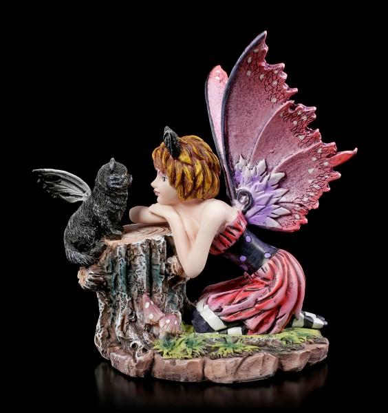 Fairy Figurine - Catfairy Felinero with little Cat