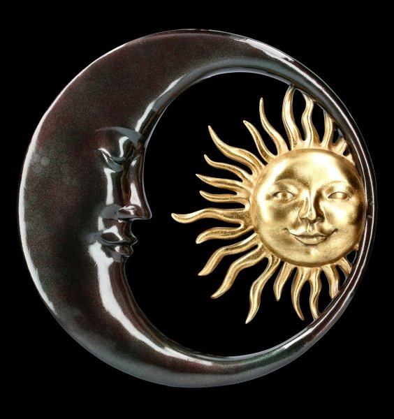 Wall Plaque - Sun and Moon - Celestial Bodies