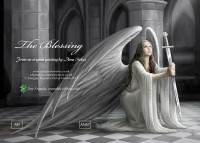 Fantasy Greeting Card Gothic Angel - The Blessing