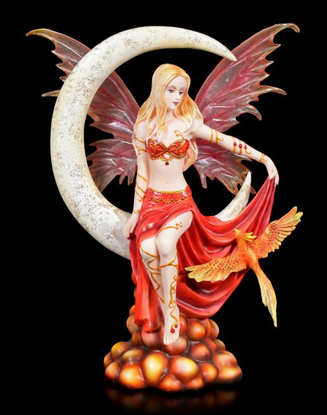 Fairy Figurine with Phoenix - Fire Moon by Nene Thomas