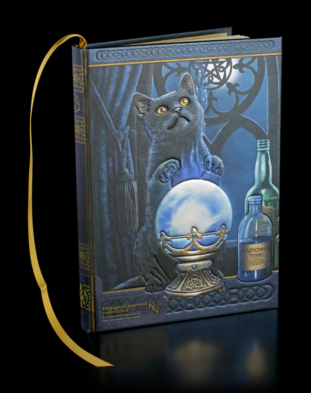 Hardcover Journal with Cat - The Witches Apprentice