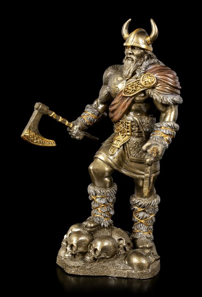 Viking Figurine with two Axes