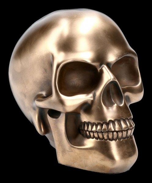 Totenkopf bronziert