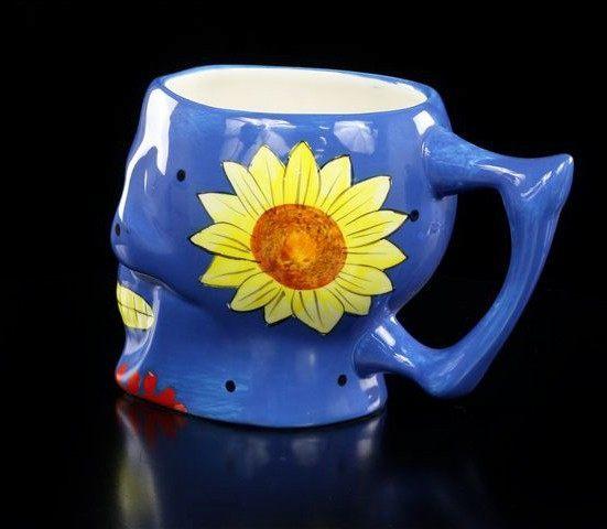 Mexikanische Totenkopf Tasse - blau