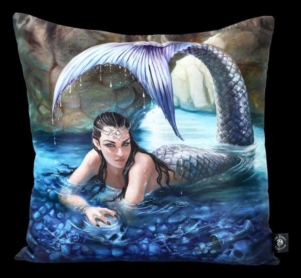 Satin Kissen mit Meerjungfrau - Hidden Depths