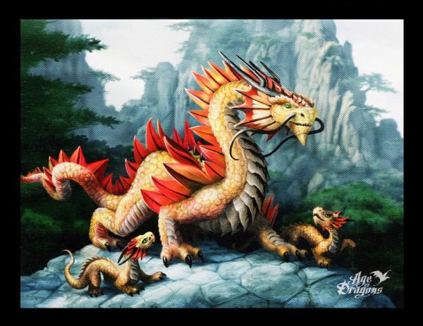 Kleine Leinwand Bergdrache - Golden Mountain Dragon