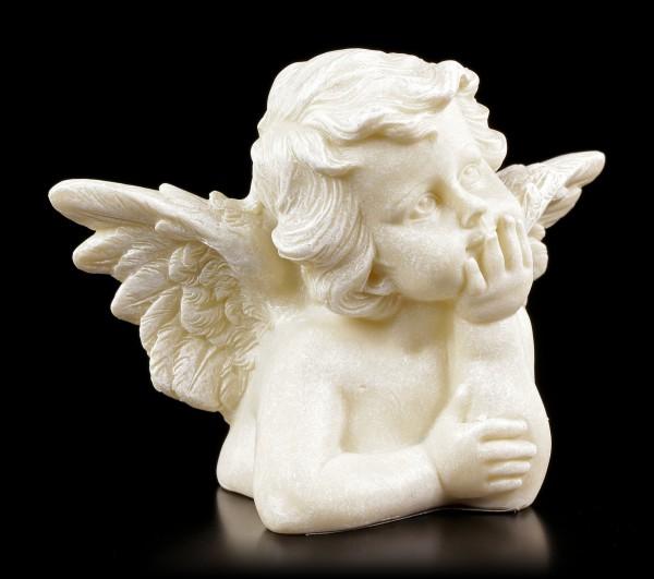 Engel Gartenfigur - Kleiner Cherub träumt