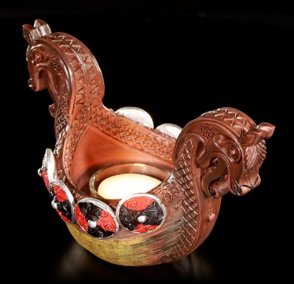 Wikinger Schiff Teelichthalter