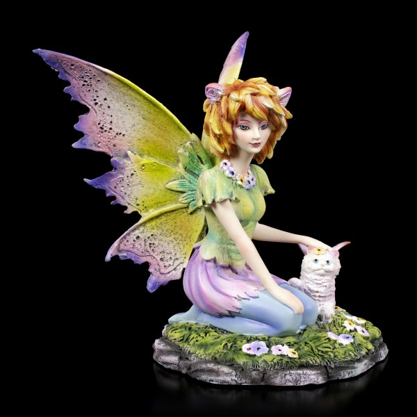 Fairy Figurine - Catfairy Felide with little Cat