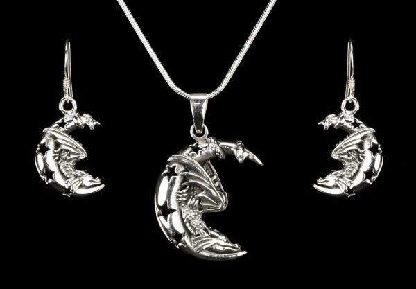 Geschenkset - Drachen Talisman - 925 Sterling Silber