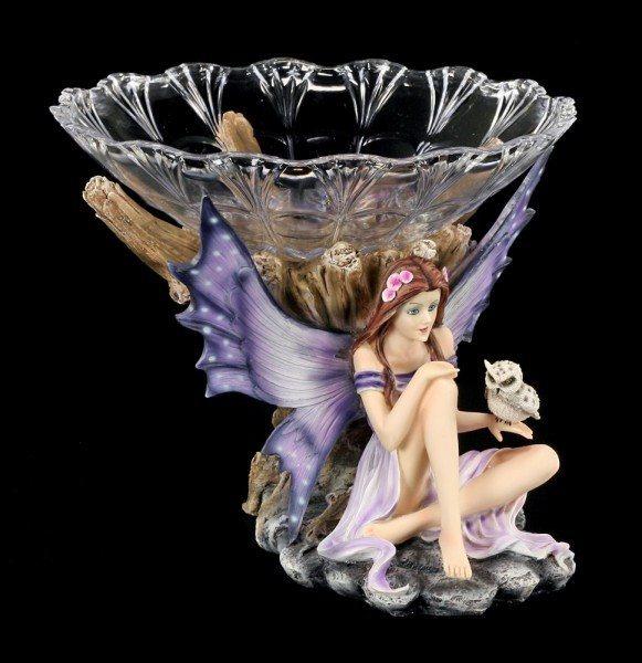 Elfen Figur - Ahillea mit Eule und Obstschale