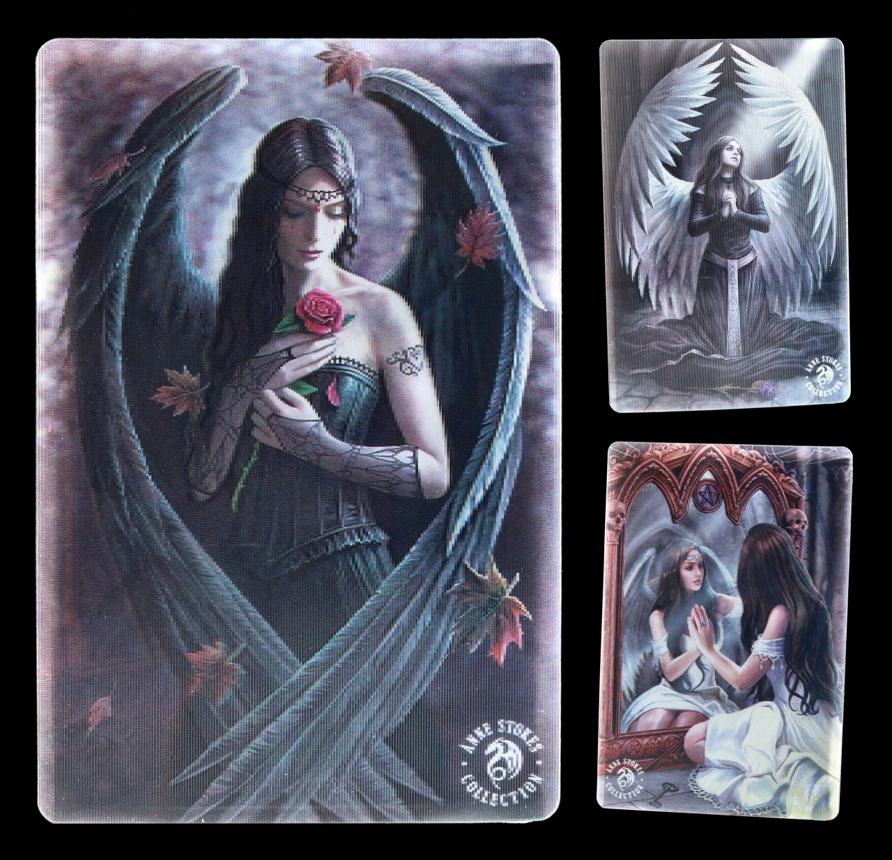 3D Postcard - Gothic Angels by Anne Stokes