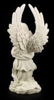 Garden Figurine - Kneeling Angel white