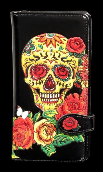 Geldbörse mit Totenkopf - Candy Skull