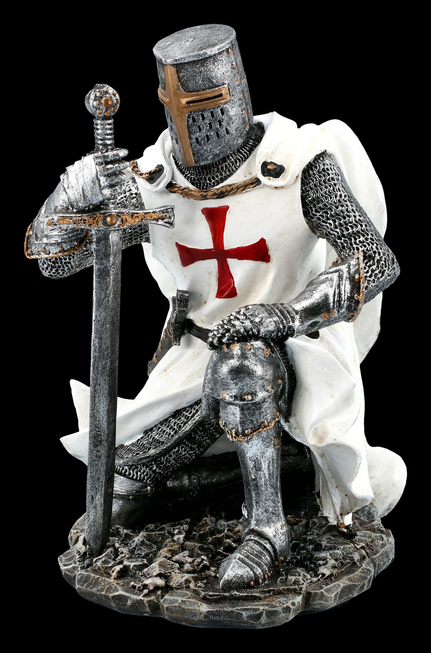 Kneeling Templar Knight Figurine With Sword Www Figuren Shop De