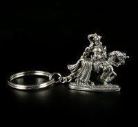 Pewter Key Ring - Knight with Horse