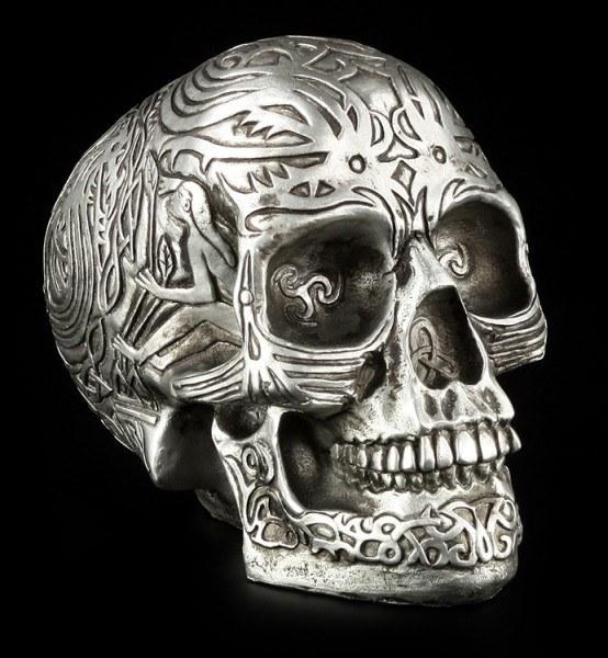 Celtic Skull - Silver-Colored