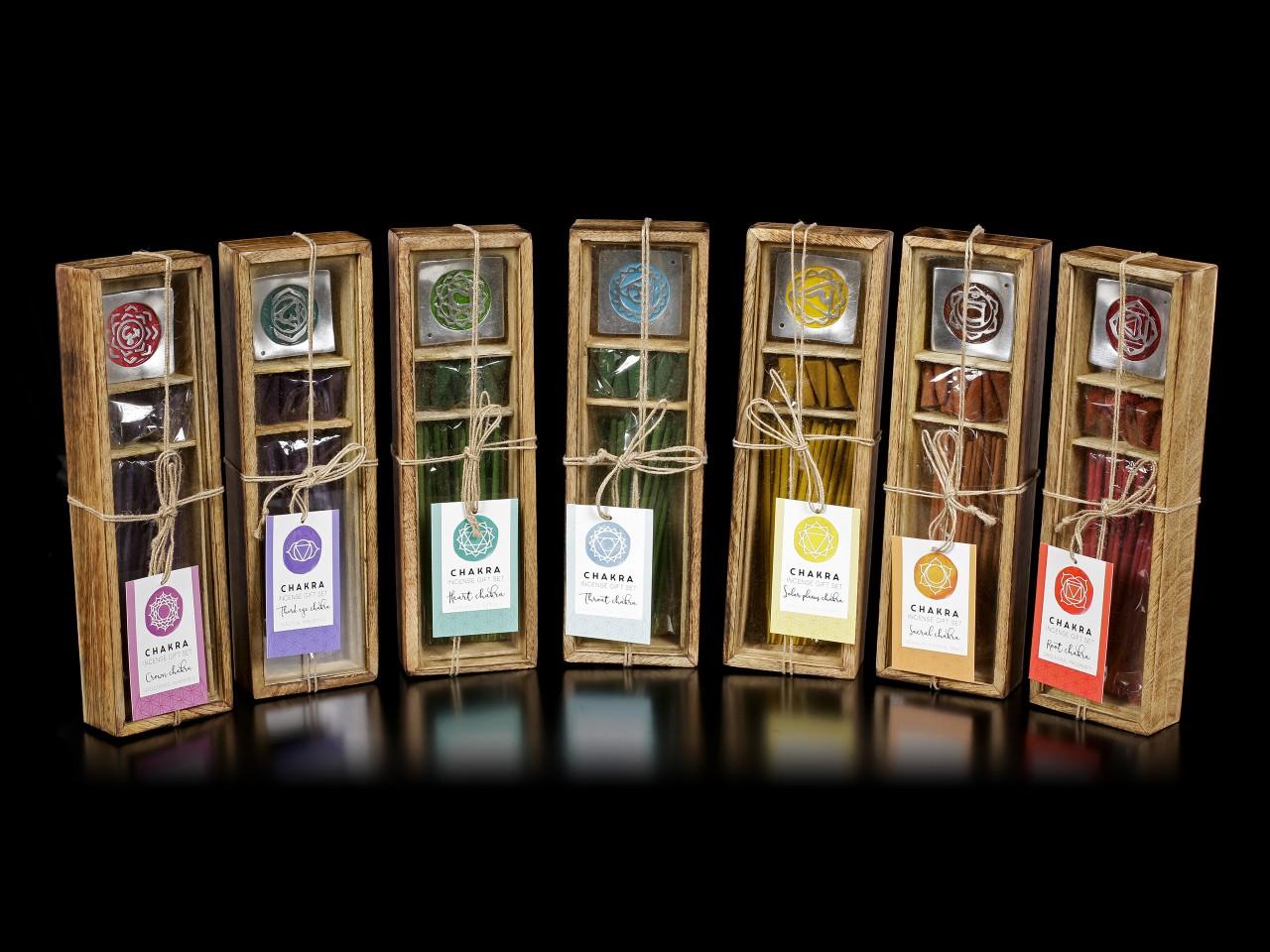 Chakra Wooden Incense Gift Set - Set of 7
