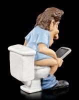 Funny Jobs Figurine - Office Clerk on Toilet