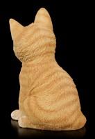 Baby Katzen Figur - Orange Tabby sitzend