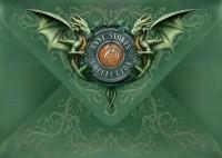 Dragon Greeting Card with Pentagram - Lunar Magic