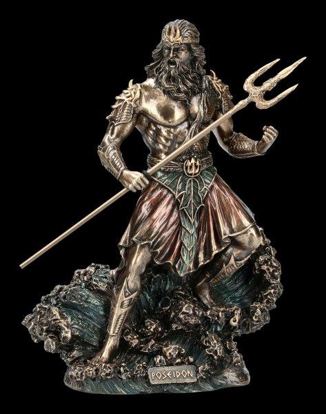 Poseidon Figur mit Dreizack