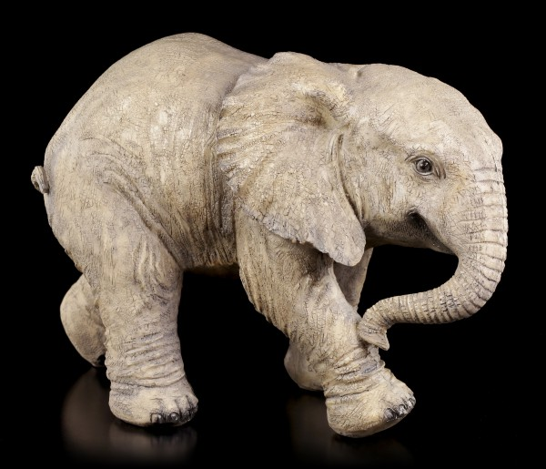 Garden Figurine - Baby Elephant running