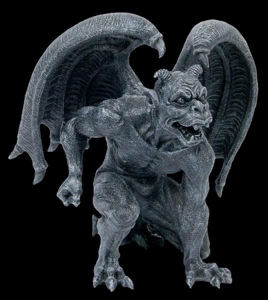 Gargoyle mit Hörnern
