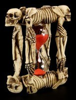 Hourglass with Skeletons