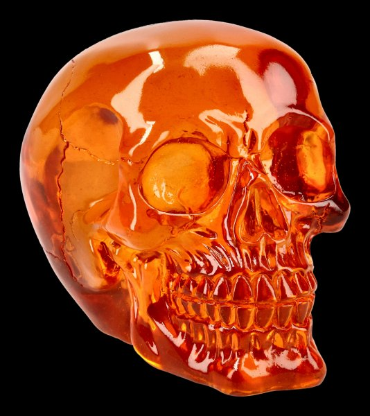 Skull - translucent orange