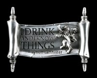 Game of Thrones Magnet - I drink and I know things