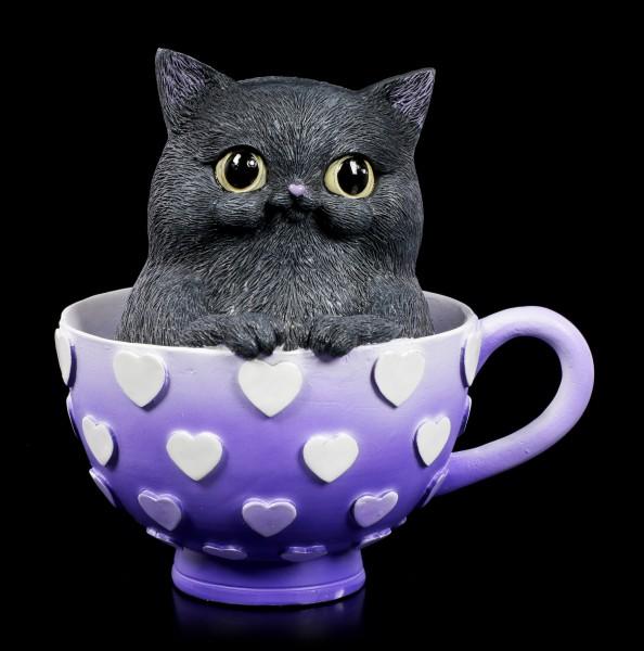 Katzen Figur - Cutiecat in Tasse