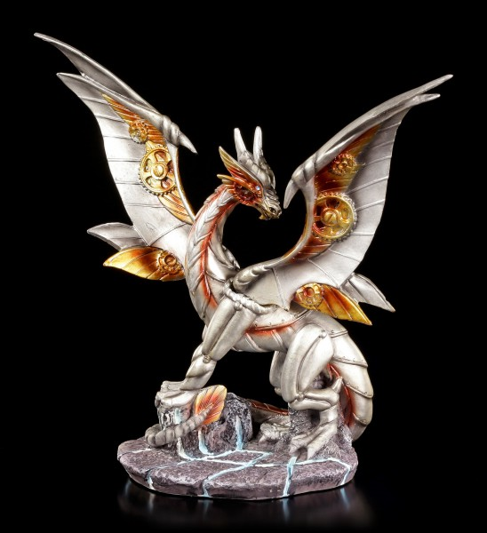 Steampunk Drachen Figur - Iron Wing