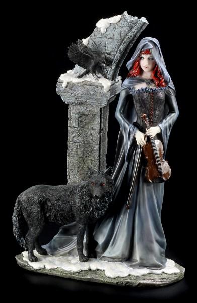 Hexen Figur - Jolandra mit Wolf und Violine