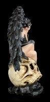 Dark Angel Figurine - Raven Queen on Skull