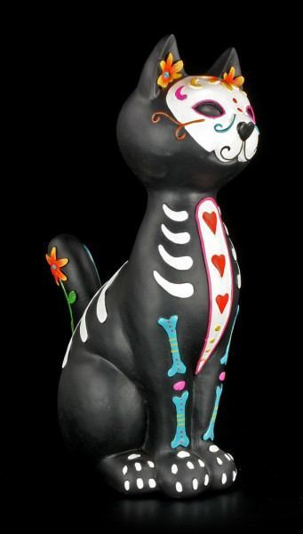 Katzen Figur - Day of the Dead - Puss
