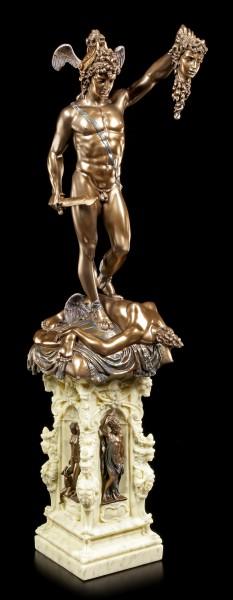 Perseus Figur auf Säule mit Medusenhaupt - Benvenuto Cellini