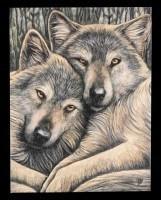 Kleine Leinwand - Loyal Companions by Lisa Parker