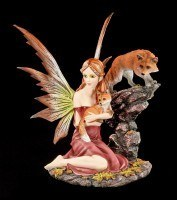 Fairy Figurine - Mandara with two Foxes
