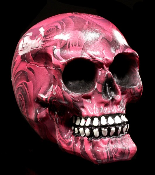 Colourfull Skull with Roses - Romance - small