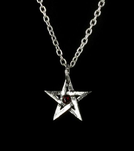 Crystal Pentagram - Alchemy Gothic Halskette
