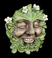 Waldgeist Wandrelief - Gänseblümchen Gesicht
